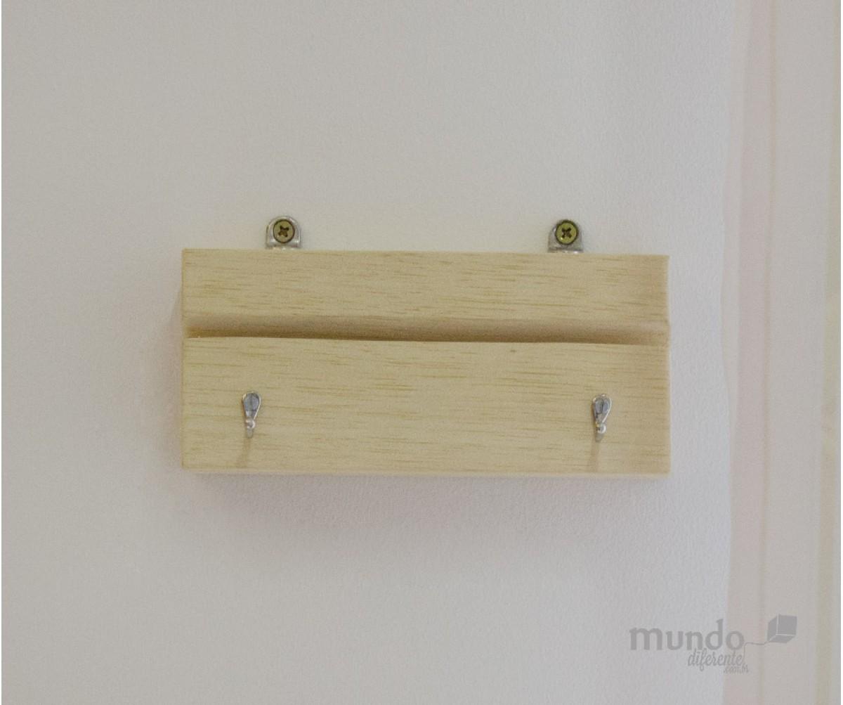 Porta Chaves Wood Personalizado