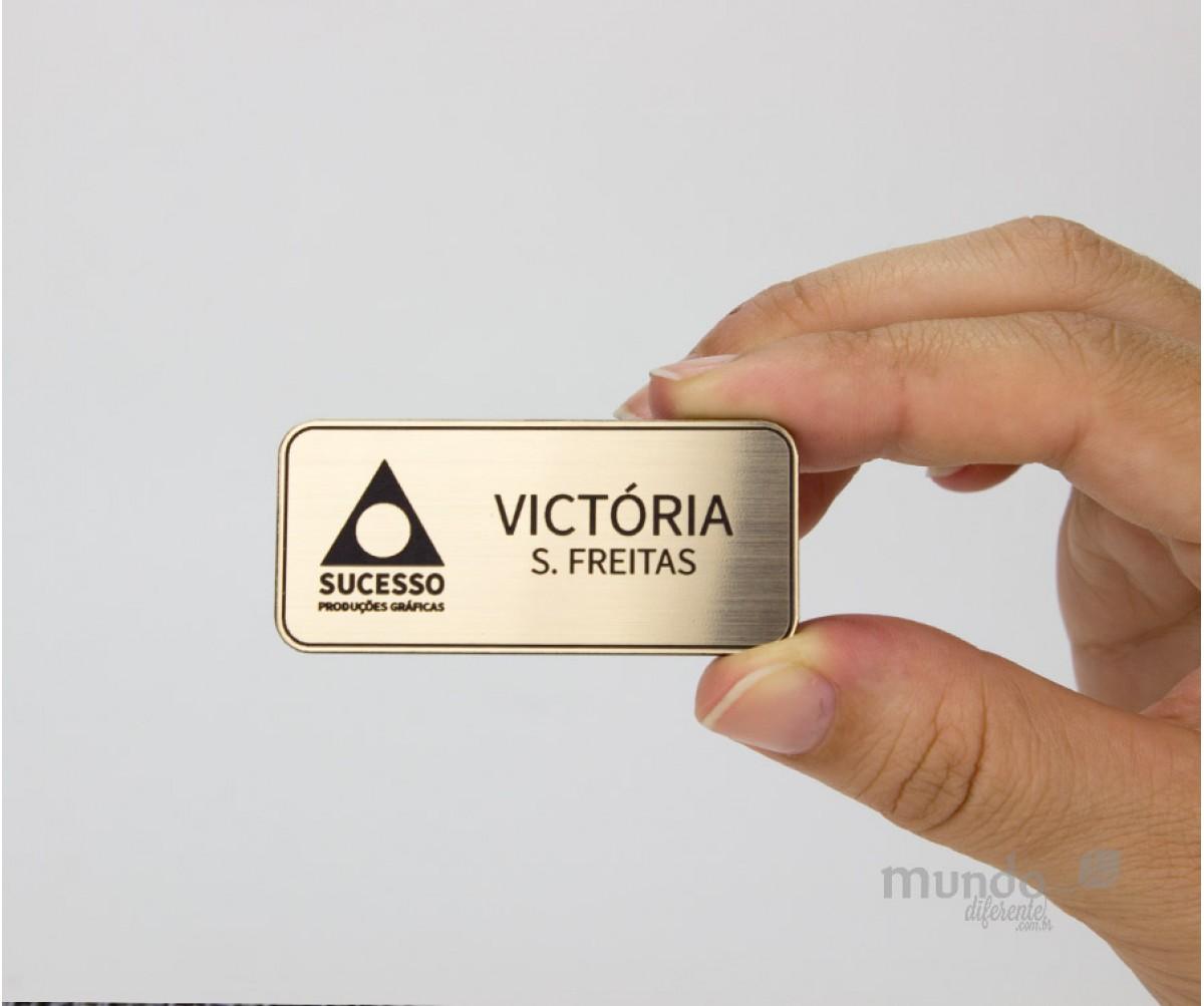 Boton Personalizado 5,5 x 2,5 cm Dourado