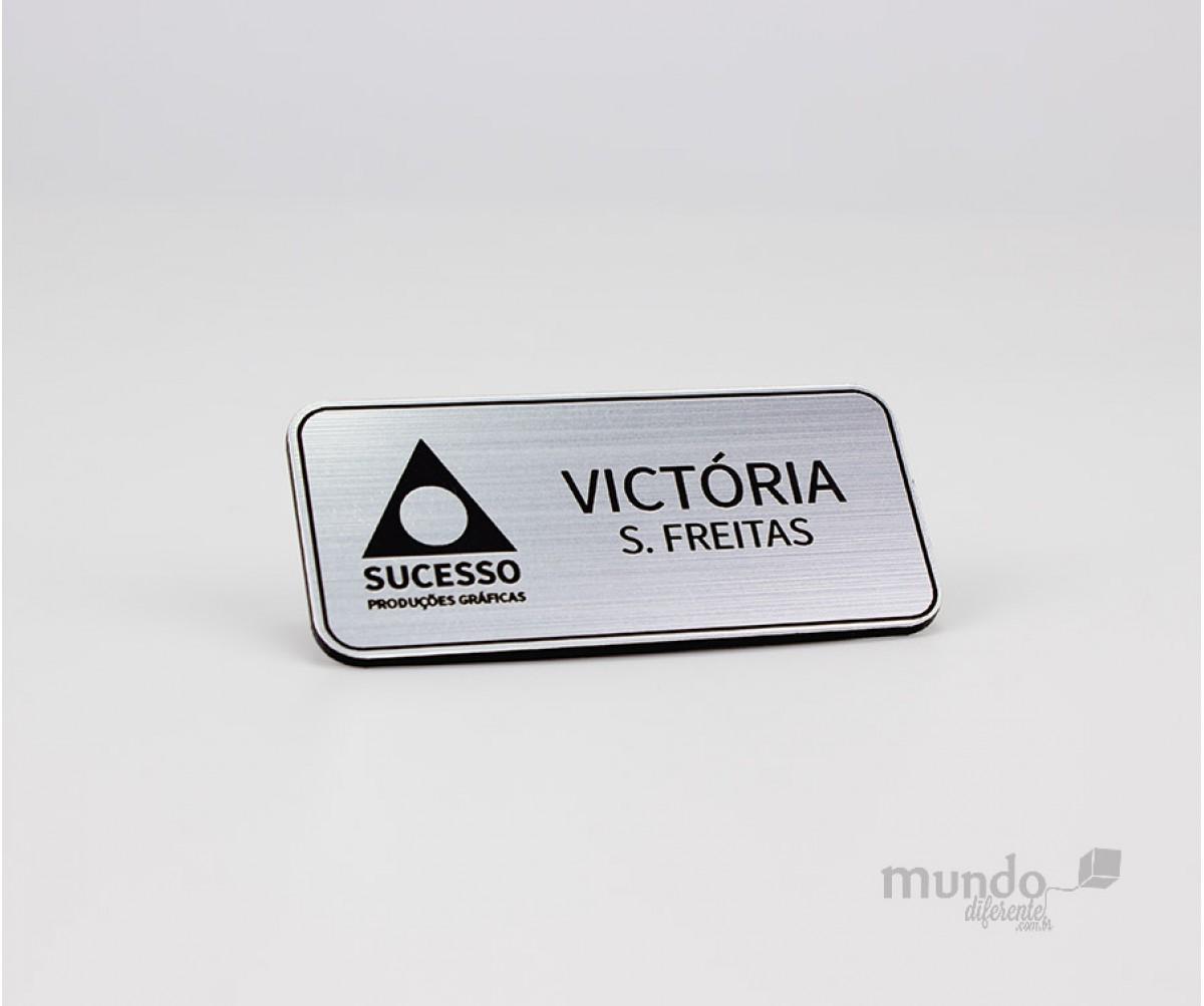 Boton Personalizado 5,5 x 2,5 cm Prata