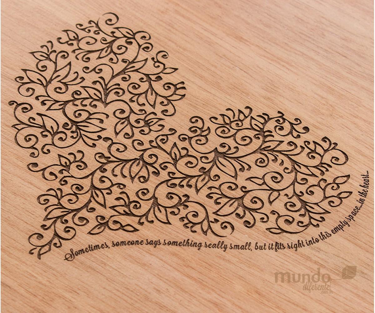 Wood Box Caixa de Madeira Quadrada  - Jequitibá Rosa 30,8 x 30,8 x 6,0 cm