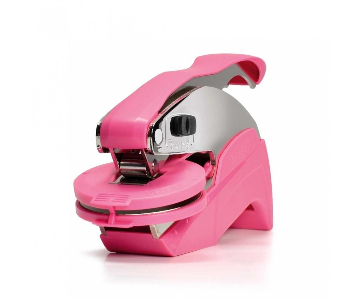 Chancela Marca d' agua Relevo Seco Redonda Rosa 41mm de diâmetro