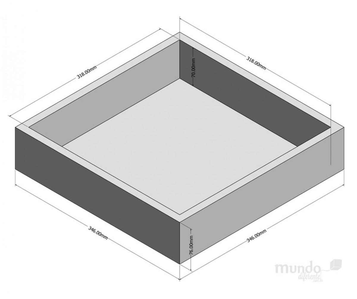 Crystal Box Jequitiba 31,8 x 31,8 cm