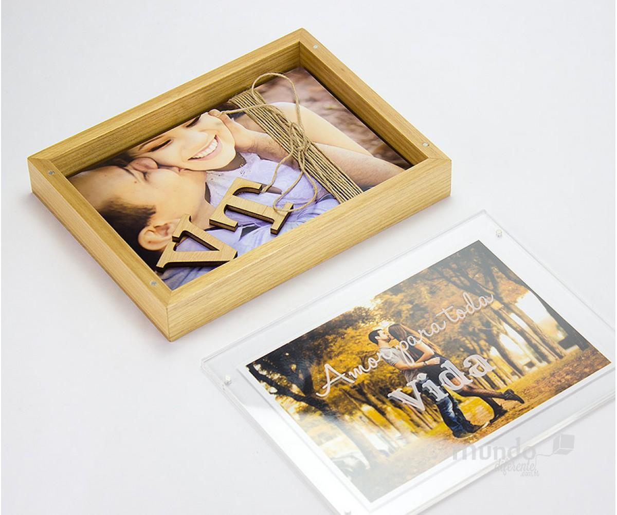 Frame Box Caixa para Fotos 15x21 em Tauari