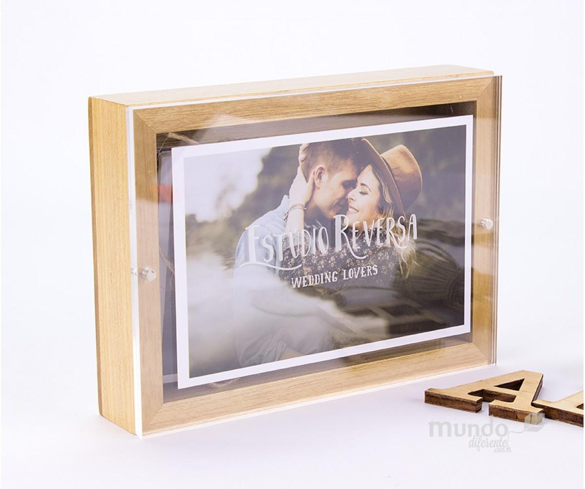 Frame Box Caixa para Fotos 10x15 em Tauari