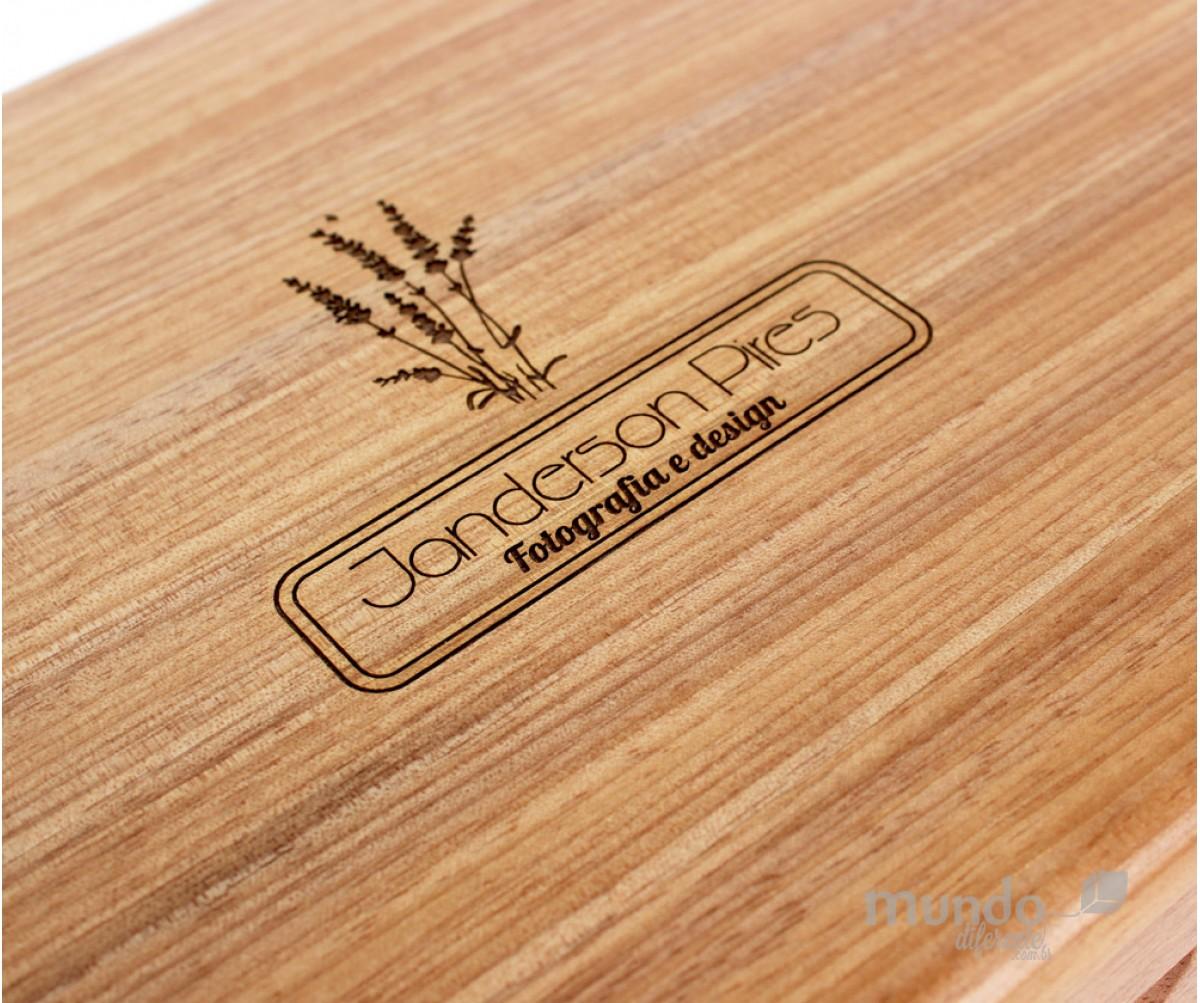 Memory Box Plus - Caixa de Madeira em Jequitibá  25x17,5x7cm