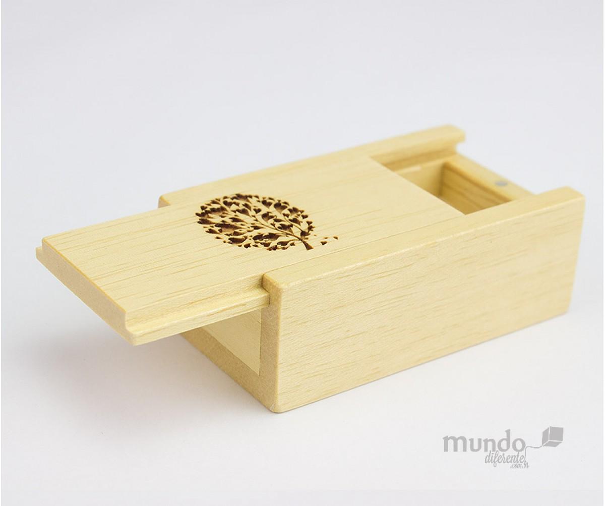 Mini Wood Box Caixa de madeira para pendrive Personalizada
