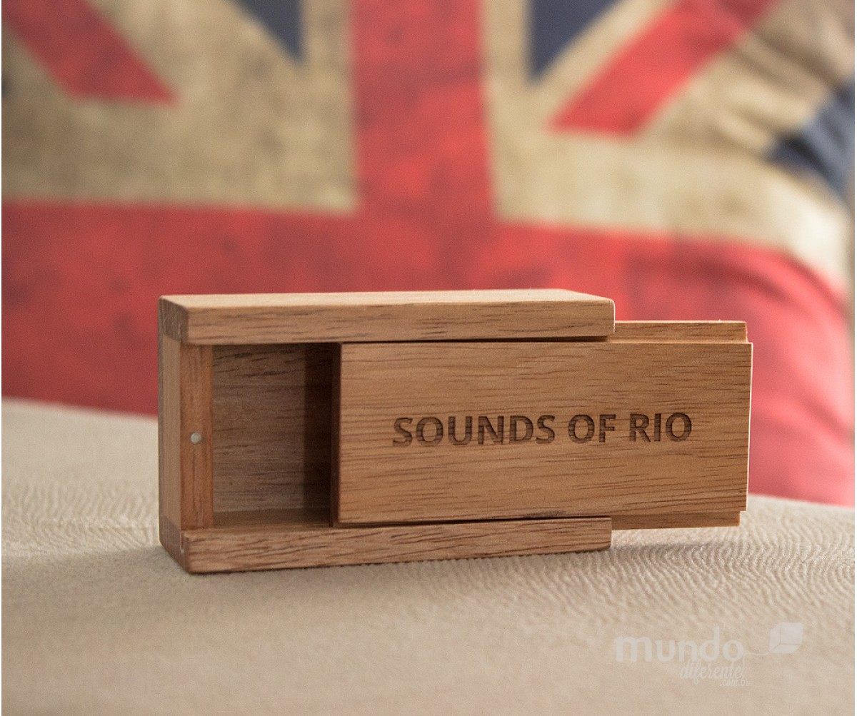 Mini Wood Box  Jequitiba  Caixa de madeira Personalizada
