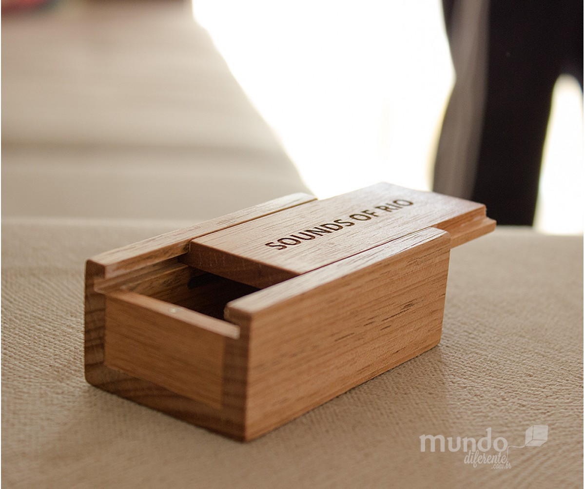 Mini Wood Box  Jequitiba  Caixa de madeira Personalizada