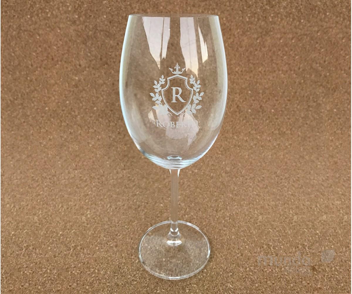 Taça Vinho Personalizada Crystalite Bohemia 580 ml