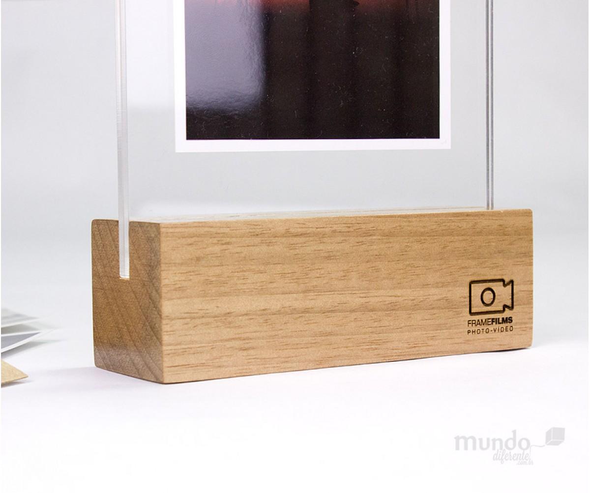 Wood Frame - Porta retrato 10x15 Vertical sem suporte