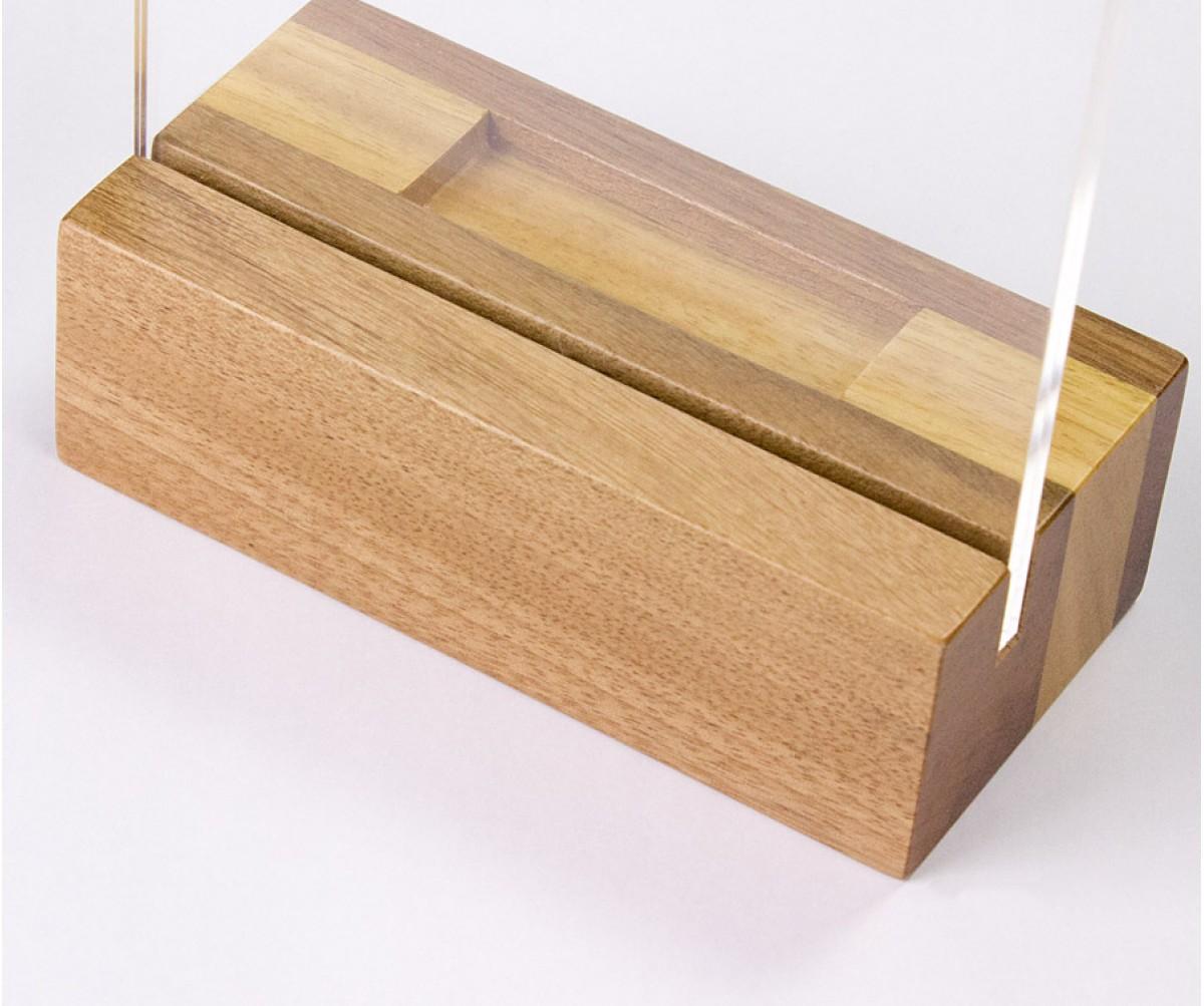 Wood Frame - Porta retrato 10x15 Vertical com suporte para pendrive