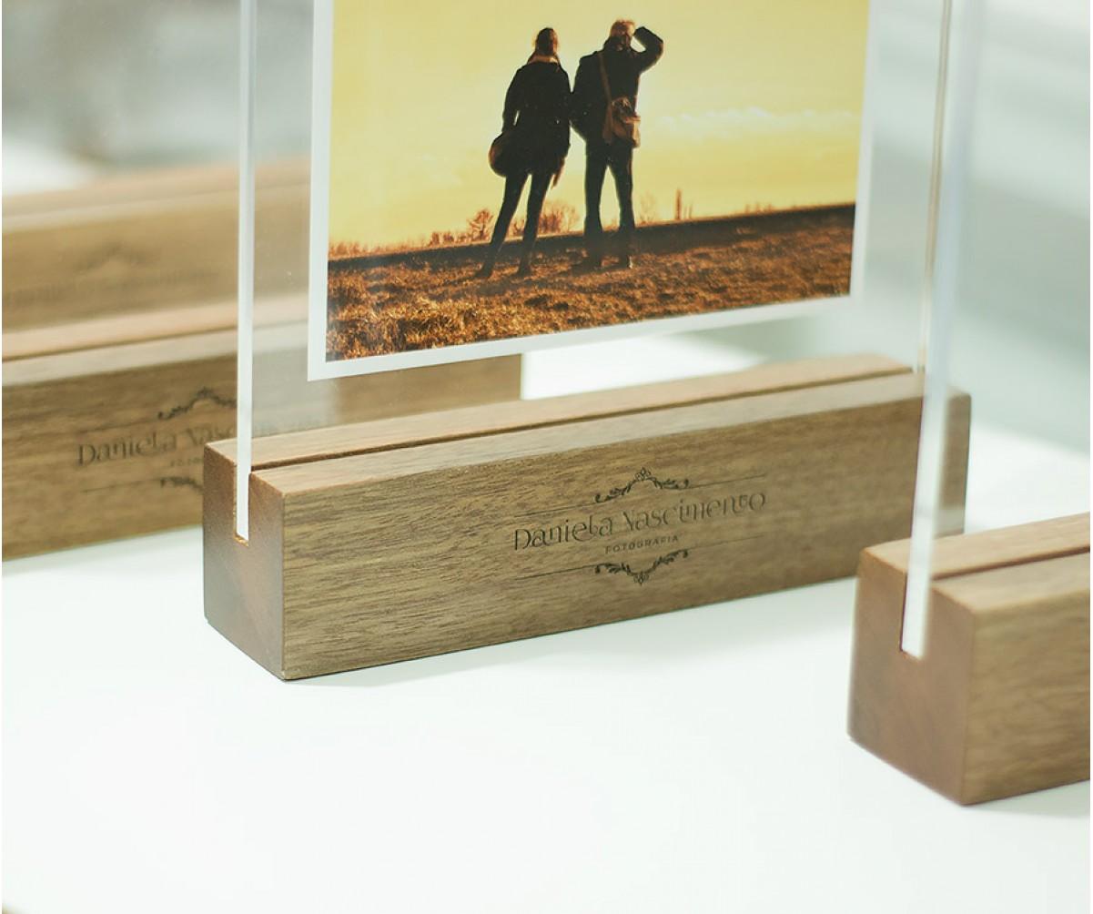 Wood Frame - Porta retrato 10x15 Horizontal sem suporte