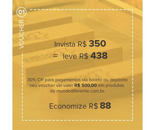 Voucher Promocional Pague R$ 350,00 e leve R$ 438,00 em produtos