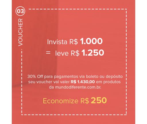 Voucher Promocional Pague R$ 1000,00 e leve R$ 1.250,00 em produtos